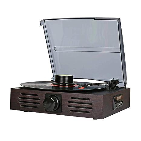 LVSSY-Reproductor de Vinilo,Tocadiscos de Vinilo Vintage con ...