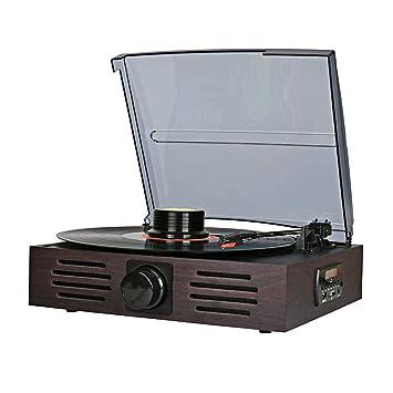 Amazon.com: LVSSY-reproductor de discos de vinilo ...