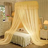 Mosquito Net Court Style Bed Canopy For Children Fly Insect Protection Indoor Decorative Height 280cm Top Diameter 1.35m