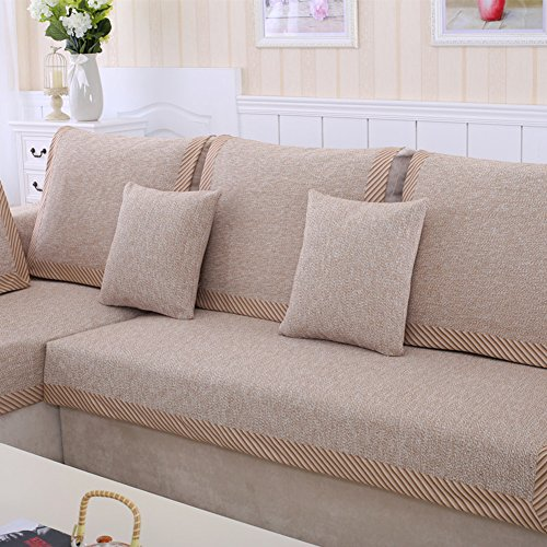 lililili Cotton sofa cover,Linen striped multipurpose anti-slip soft sofa covers nordic style decorative furniture protector sectional sofa towel covers throws -C 70x70cm(28x28inch) by lililili
