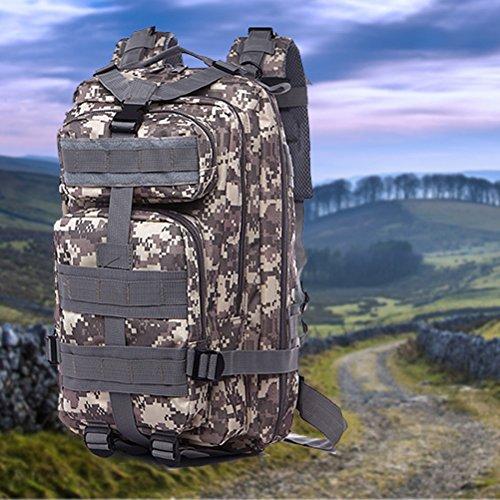 WINOMO Unisex Männer Frauen Outdoor Taktischen Rucksack Sporttasche für Camping Wandern Trekking(Camouflage)