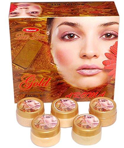 Natural Bee Love Aroma Facial Kit (5 Steps 310g) – Gold