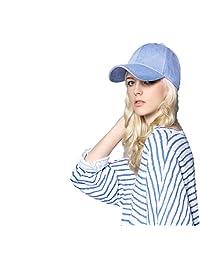 iHomey Denim Cotton Baseball Hat Snapback Sun Protection Beach Holiday Trucker Hat