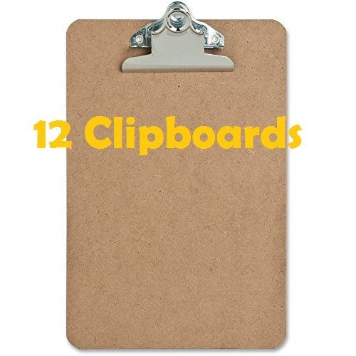 12 Pack Mini Clipboard Hardboard
