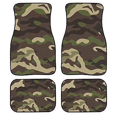 chaqlin Premium Full Set Carpet Car Mats Camo Floor Car Mats for SUV Sedan Truck Van Automotive Accessories: Automotive