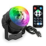 Party Lights, KUMEDA Disco Ball Strobe Lights 7 Colors Sound Activated Stage Lights Remote Control lights for Christmas Parties DJ Karaoke Wedding Outdoor Holidays Dance Parties.