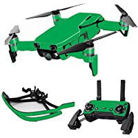 MightySkins Skin for DJI Mavic Air Drone - Solid Green   Max Combo Protective, Durable, and Unique Vinyl Decal wrap cover   Easy To Apply, Remove, and Change Styles   Made in the USA