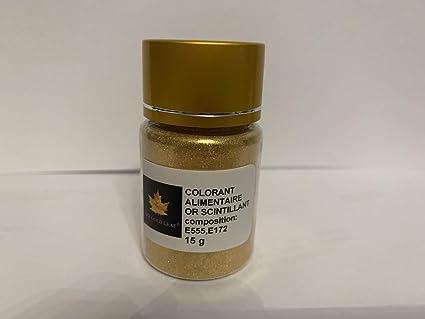 c5e50189e Polvo alimentario comestible, colorante de oro brillante, bote de 15 ...