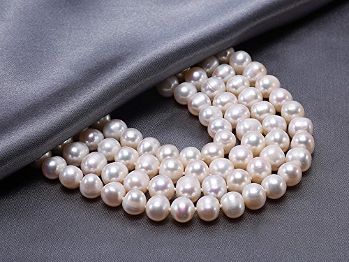 JYX Round Natural White 8-9mm Freshwater Pearl Necklace Endless Long Sweater Necklace 64'' by JYX Pearl (Image #8)