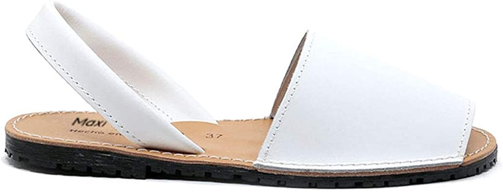 Zapatos Menorquina Piel Cuero Hecho en España Sandalia Mujer ...