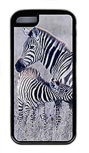 Brian114 iPhone 5C Case - Cute Animals Zebra 21 Soft Rubber Black iPhone 5C Cover, iPhone 5C Cases, Cute iPhone 5c Case