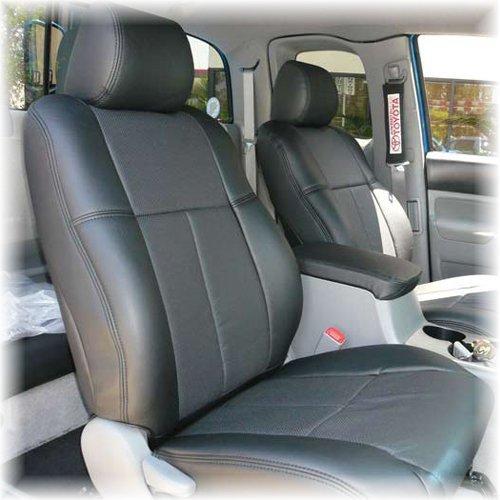 [Clazzio 正規品] トヨタ タンドラ 2007-2013年式 クルーマックスに適合 マニュアルシート車 PVC シートカバー 2列セット (ブラック) B078JFJ4FS  ブラック -
