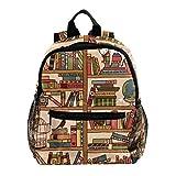MUOOUM Bookshelf Globe Cat Lay Sleep Kids Backpack School Bag Travel Daypack Pre-School Toddler Bag