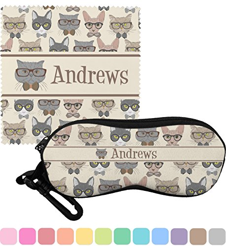 Hipster Cats Eyeglass Case & Cloth (Personalized)