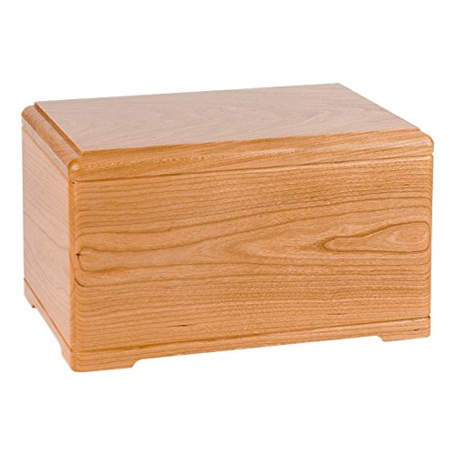 Wood Cremation Urn - Natural Cherry Designer