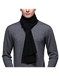 Mens Winter Warm Long cashmere Thick Scarf Solid Color Soft Scarf