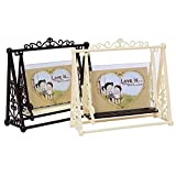 Ireav Cartoon Retro Swing Photo Frame Desktop Ornaments Bedroom Study Photo Frames European Classical Decorative Figurines Creative
