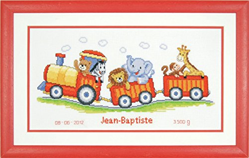 Vervaco PN-0145025 | Animal Train Birth Record Counted Cross Stitch Kit