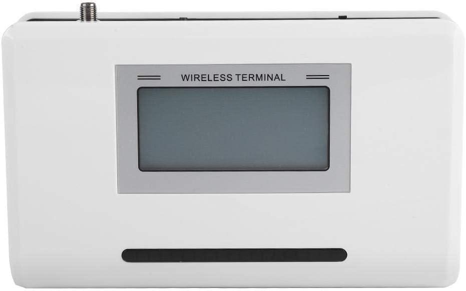 Bewinner gsm Terminal Inalámbrico Teléfono Fijo con Pantalla LCD Reconocimiento DTMF Estándar Detector Incorporado Tarjeta de Detección Automática 2G,3G,4G Alarmas, Cajas de Grabación(EU pulg)