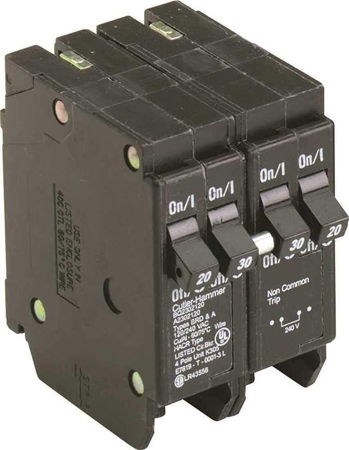 Eaton BQ2302120 20/30A, 120/240V, 10 kAIC, CTL Quad CB