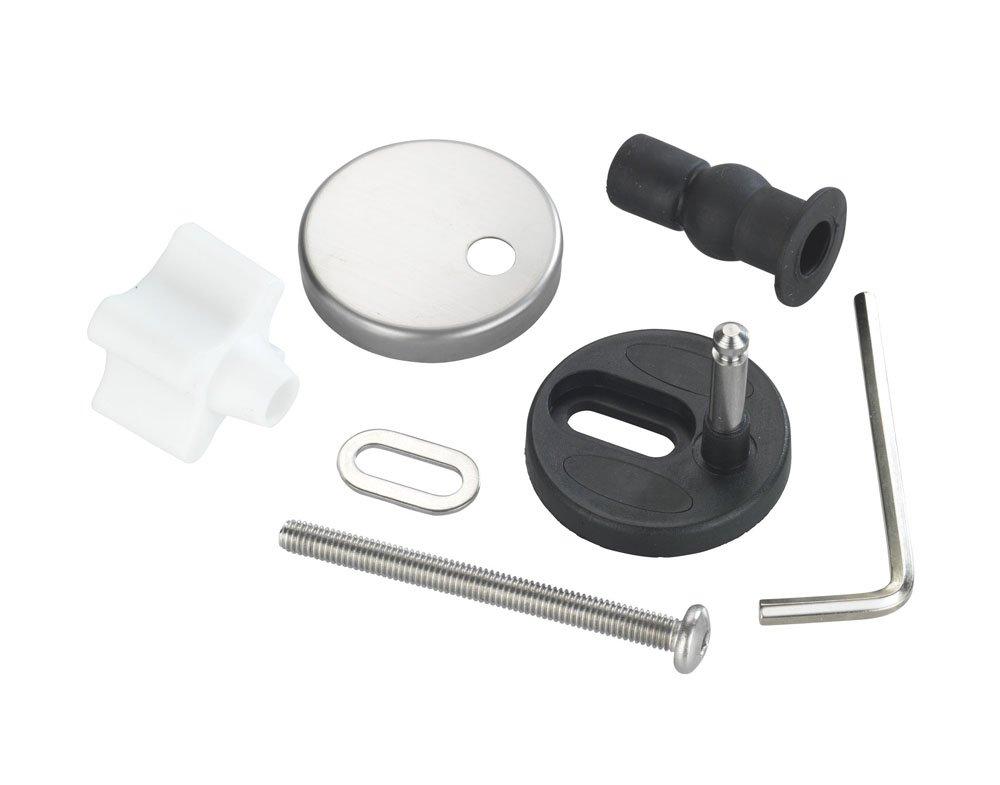 WENKO 290221100 Fixation de rechange pour WC Easy Close - pour abattants WC avec systè me d'abaissement automatique Easy Close, Acier inoxydable, Mat