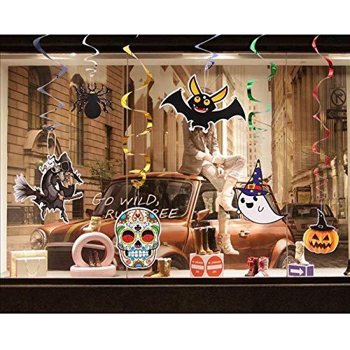 Party DIY Decorations - 6pcs Diy Halloween Hanging Paper Window Decoratingwitch Pumpkin Spider Banners Garland Pennants - Party Decorations Party Decorations Halloween Skeleton Cotton Bal -