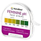Nutrablast Feminine pH Test Strips 3.0-5.5 | Monitor Vaginal Intimate Health & Prevent Infections | Easy to Use & Accurate Women's Acidity & Alkalinity Balance pH Level Tester Kit (100 Tests Roll)