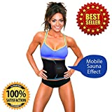 UltraComfy Trimmer Waist Belt, Sweat Enhancer, Fat burner, promotes Weight Lost, build abdominal muscle and provide back support great for Workout, Weight lifting, Sports, Sauna