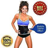UltraComfy Waist Trimmer Trainer Belt for Men and Women Waist Shaper Cincher Sweat Enhancer Fat burner Slimming AB Belt for Weight Lost Sauna Belt back support great for Workout Weight lifting Yoga