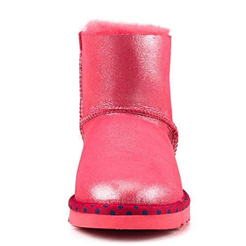 Rosso Caviglia Di Donne D9528 Bowknot Diamante Shenduo Delle Neve Stivali PfBzqq