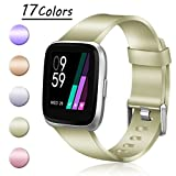 Hamile For Fitbit Versa Bands, Replacement Bands Accessories for Fitbit Versa Watch, Large Small
