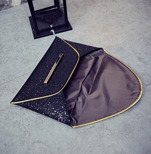 borsetta busta flash bag party black Rcdxing donna borse con pochette paillettes ABZEw