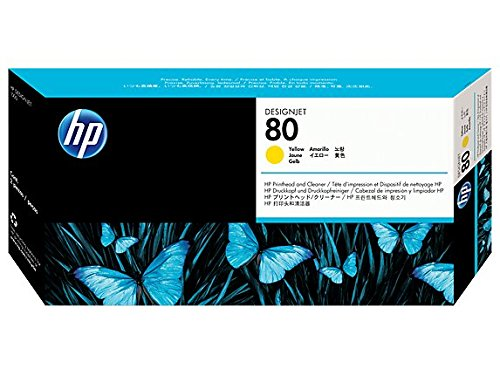 HP C4823A No. 80 Printhead And Cleaner Yellow