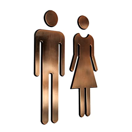 6ac38f03c4b4 Tocone Adhesivo Acrílico Señales Baño Signo Mujer Hombre Placa Puerta WC  Señalización Aseos 6,5x20cm