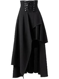 830cffb642 Amazon.com: Killreal Women's High Waist Victorian Steampunk Gothic ...