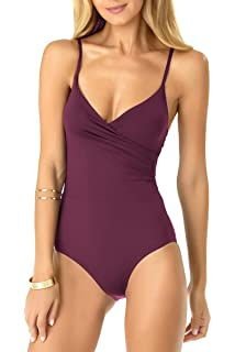 ce77df474d3 Anne Cole Women's Vintage Lingerie Maillot One Piece Basic Swimsuit ...