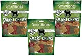 (3 Pack) Smartchews Safari Chews For Dogs, Large, 7 Pieces Each