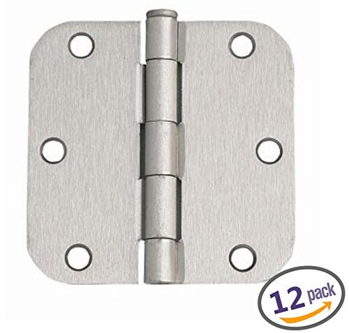 "Dynasty Hardware 3-1/2"" Door Hinges 5/8"" Radius Corner,, used for sale  Delivered anywhere in Canada"
