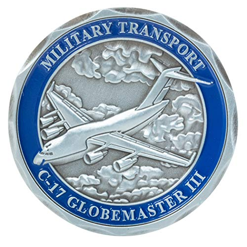 (United States Air Force C-17 Globemaster III Military Transport Aircraft Challenge Coin)