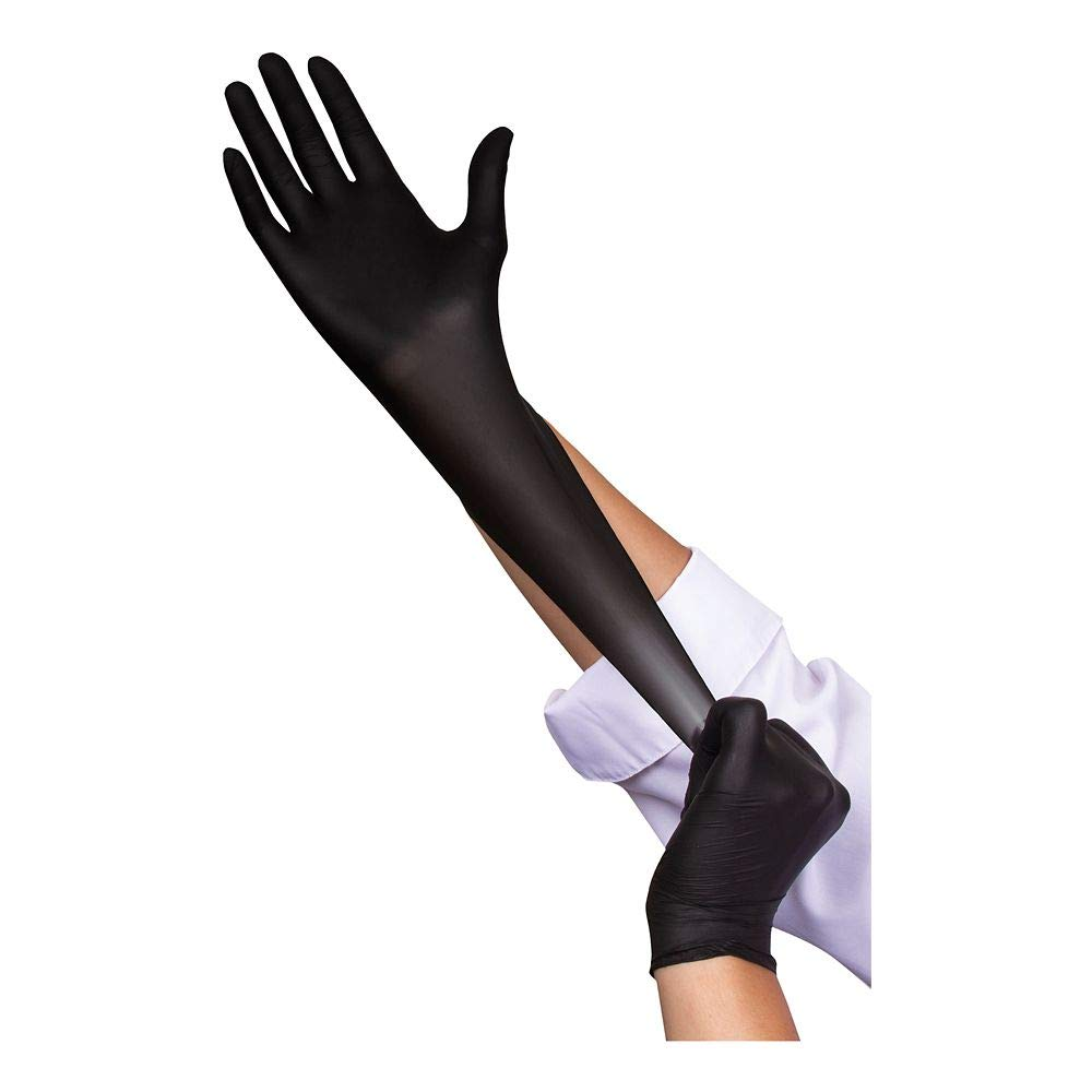 Food Handler 103-TS14-BLK Black Medium Nitrile Glove - 1000 / CS by BUNZL (Image #1)