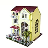 NWFashion Assemble Room DIY Villa Dollhouse Best Gift For Lover and Children (Happy Home)