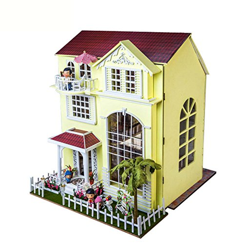 NWFashion Assemble Room DIY Villa Dollhouse Best Gift For Lover and Children (Happy Home) by NWFashion