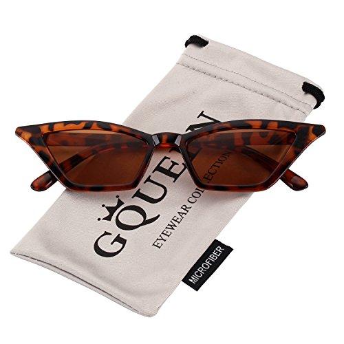 moda Gafas lentes GQUEEN Kurt ojo Vintage tipo sol Tortuga Marco Lentes de y Marrones tipo protección gato a Clout Cobain UV Estilo la de con Lentes GQS8 OUwqAdU