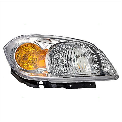 - Passengers Headlight Headlamp Clear Lens with Amber Signal Reflector & Bracket Replacement for Chevrolet Pontiac 22740620 AutoAndArt