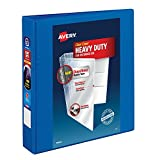 """Avery Heavy-Duty View Binder, 1-1/2"""" One Touch Slant Rings, 375-Sheet Capacity, DuraHinge, Pacific Blue (79722)"""