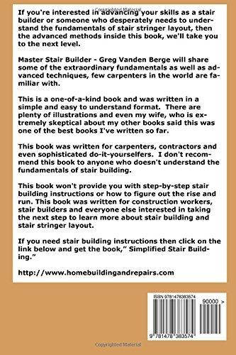 Advanced Stair Stringer Layout Methods: Greg Vanden Berge: 9781478383574:  Amazon.com: Books