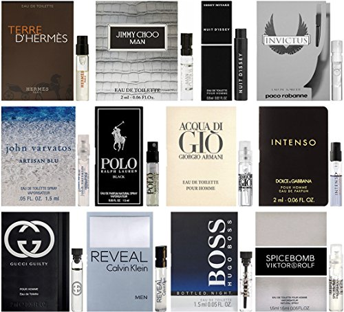 Best selling designer fragrance sampler for men lot x 12 4 selling design