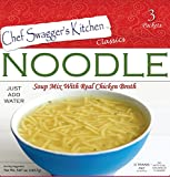 Noodle Soup Mix with Real Chicken Broth (3 pouches/carton, 5.07 oz./carton, Pack of 6, 18 pouches total)