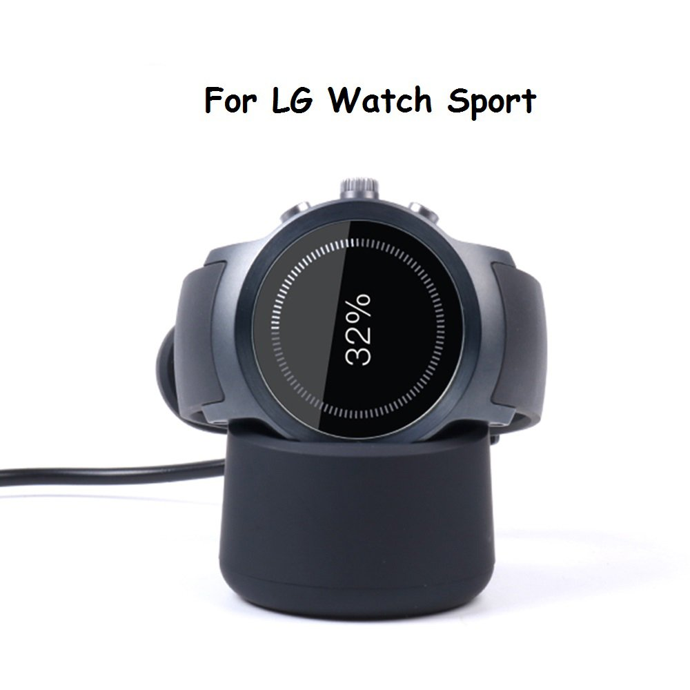 LG Watch Sport Charger Dock SIKAI Replacement Portable Magnetic Desktop Charging Cradle Dock For LG Watch Sport Smart Watch Charging Stand With Micro ...