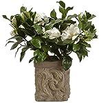 18-Silk-Gardenia-Flower-Arrangement-wStone-Pot-CreamGreen